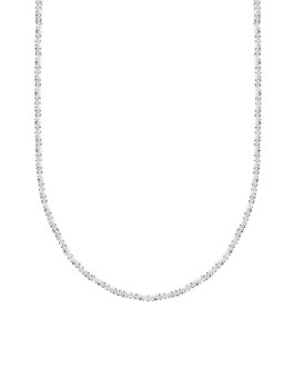 Geometric Full Zircon Rhinestone Chain Necklace