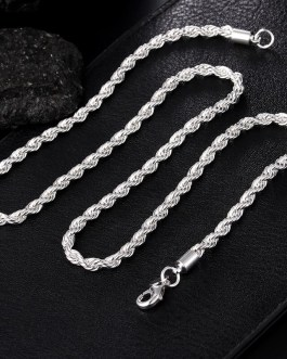 Twist Snake Chain Necklace Jewelry