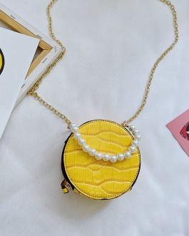 Cute Chain Round Simple Small Shoulder Bag