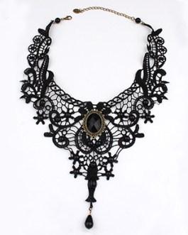 Edwardian Lace Style Drape Necklace