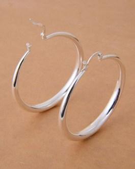 Fashion 925 Sterling Silver Hoop Earring