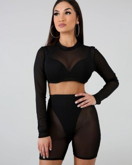 Gauze Perspective Beach Two Piece Outfits