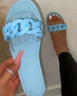 Pure Round Toe Slide Slippers