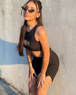 Sexy Hollow Out Two Piece Outfits