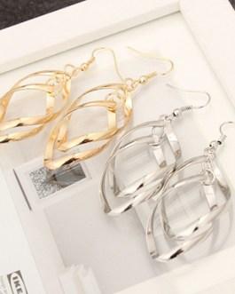 Spiral Plated Dangle Drop Earrings