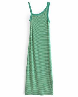 Striped Knitted Sleeveless Midi Dress