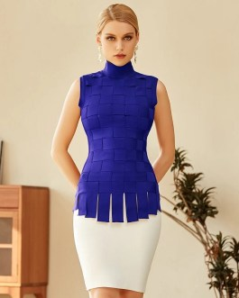 Patchwork Sexy Tank Tops & Mini Skirts Party Bandage 2Piece Sets