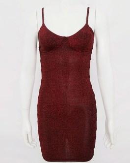 Sexy Club Sleeveless Cut Out Shaping Mini Dress