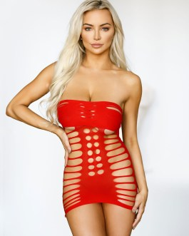 Sexy Stretch Chemise Cut Out Lingerie