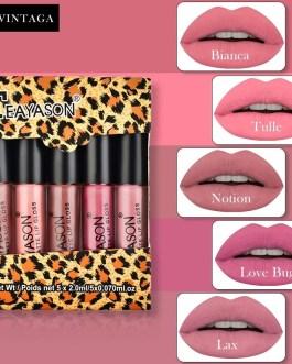 5PcsSet Sexy Vampire Lip Stick Matte Velvet Lipsticks