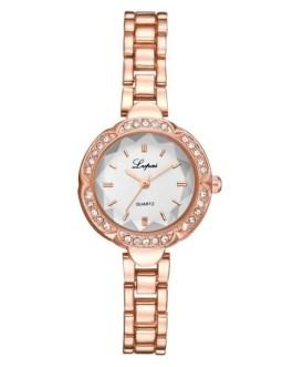 Casual Quartz Rhinestone Bracelet Clasp Wrist Watch