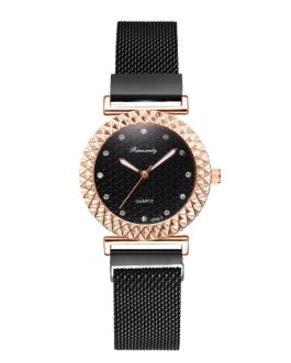 Elegant Magnet Diamond Quartz Wrist Watch