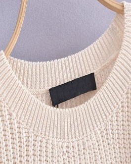 Elegant One Shoulder Long Sleeve Knitted Sweaters