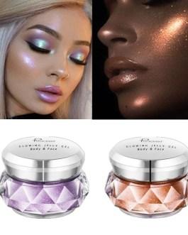 Face Highlighter Jelly Gel Mermaid Eyeshadow Glow Body Glitter