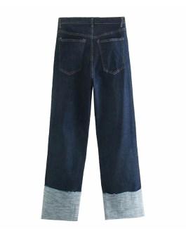 Fashion Straight Cuff Zipper Fly Long Cowboy Trousers