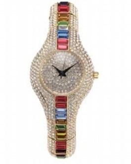 Shockproof Waterproof Rhinestone Bracelet Wristwatch
