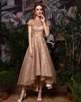 Short Front Long Back Formal Party Evening Gown