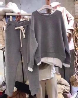 Streetwear Pullover Sweatshirts And Harem Pants 2 Piece Set