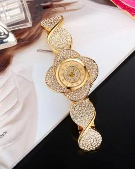 Unique Design Flower Quartz Wristwatch