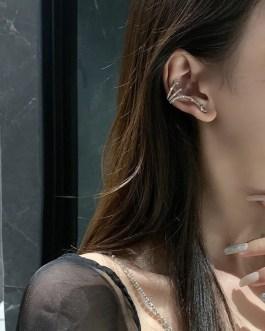 1PC Zircon Snake Clip Earrings
