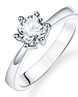 Cubic Zirconia Crystal Wedding Rings