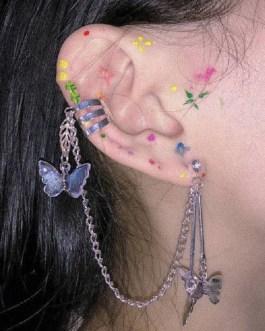 Fashion Elegant Cute Rhinestone Drop Earrings