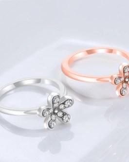 Fashion Flower Crystal Ring