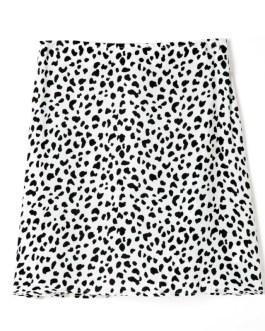 Fashion Leopard Print Vintage Mini Skirt