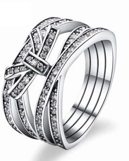 Fashion Premium Bow Zircon Ring