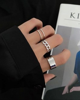 Hiphop Cross Punk Double Ring