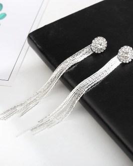 Korean Fashion Crystal Tassel Earrings