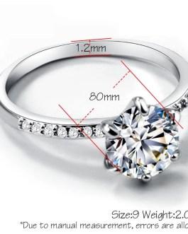 Luxury Big Crystal Engagement Rings