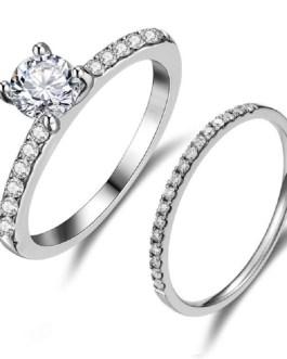Luxury Crystal Wedding Ring