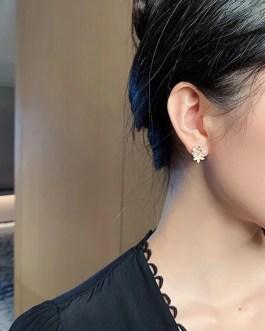 Trendy Flower Butterfly Stud Earrings