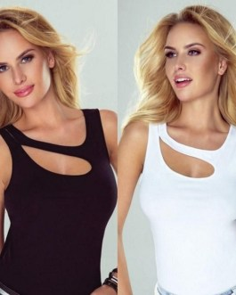 Sexy High Street Hollow Out Fashion Top