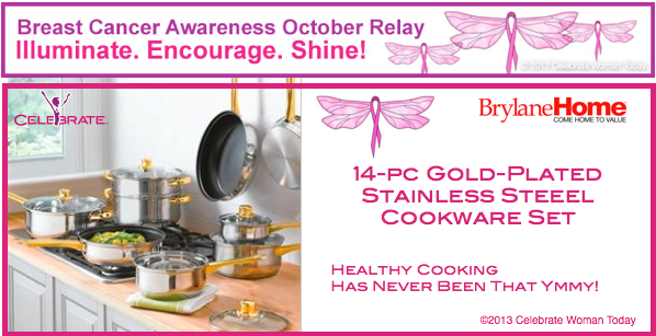 14-pc Gold Plated Stainless Steel Cookware