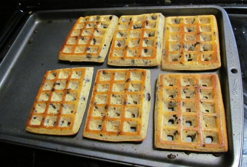 gluten-free waffles oven baked with chocolate chips