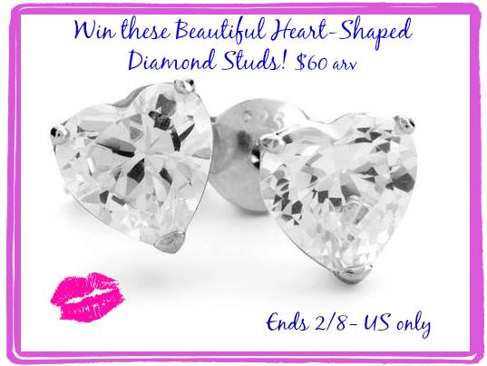 heart shaped diamond studs