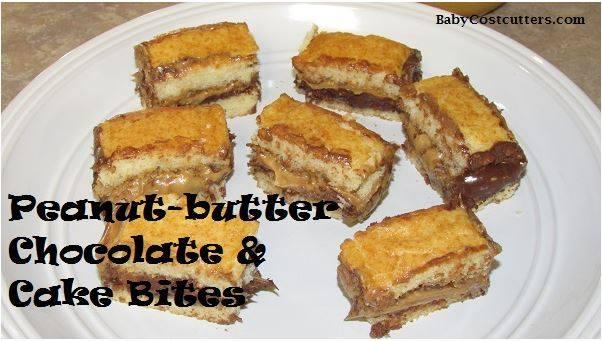 peanut butter chocolate cake bites
