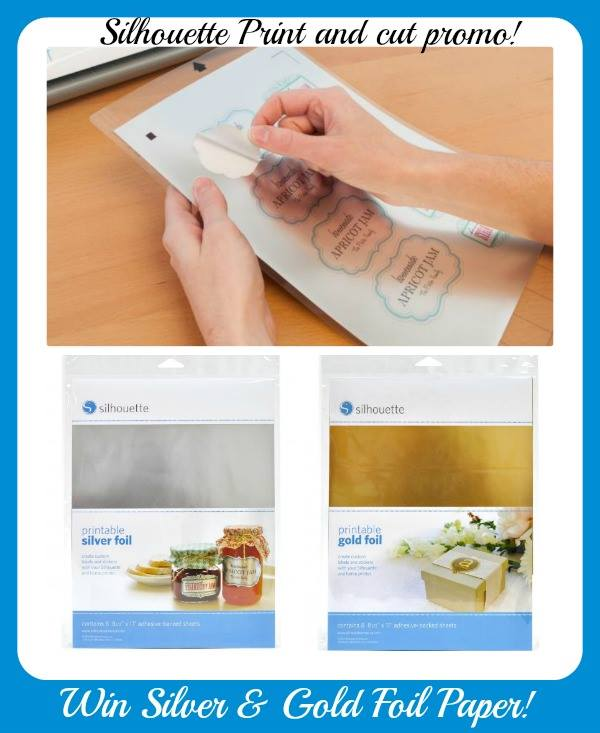 photograph about Printable Gold Foil Paper titled Printable Gold and Silver Foil Giveaway - Run Through Mother