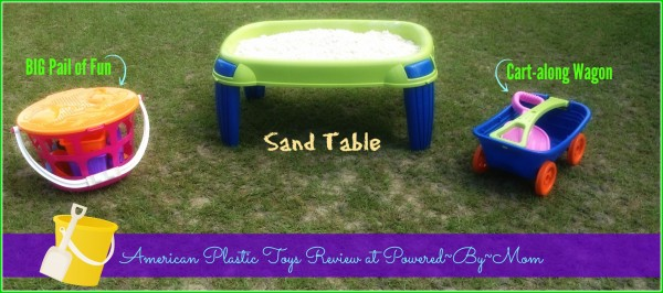 Powered-By-Mom #Review of American Plastic Toys' Sand Table and Beach Collection | Toys #MadeInAmerica