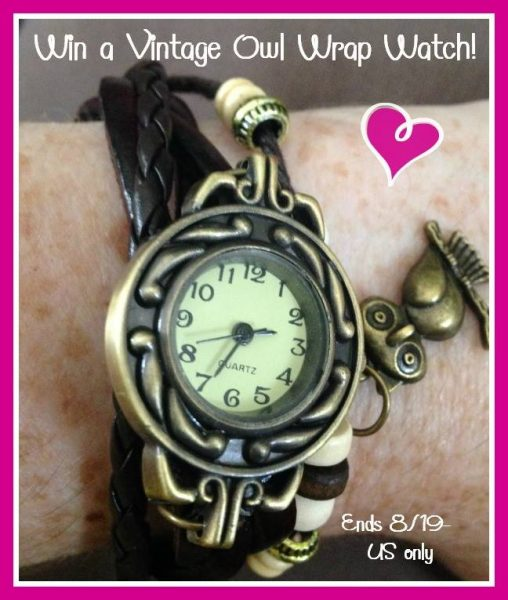 vintage owl wrap watch