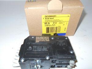 NEW IN BOX NIB SQUARE D QO260GFI QO 2 POLE 60 AMP GROUND