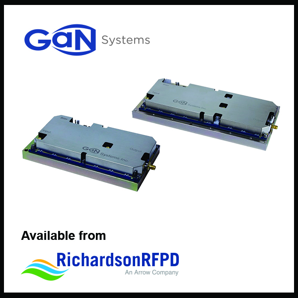 Richardson RFPD announces availability and support for New 100 W and 300 W power amplifier evaluation boards for wireless power transfer from GaN Systems