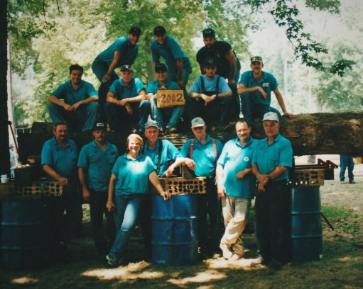 Saw mill crew 2002