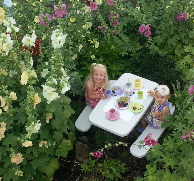 children's hollyhock garden hideaway playhouse