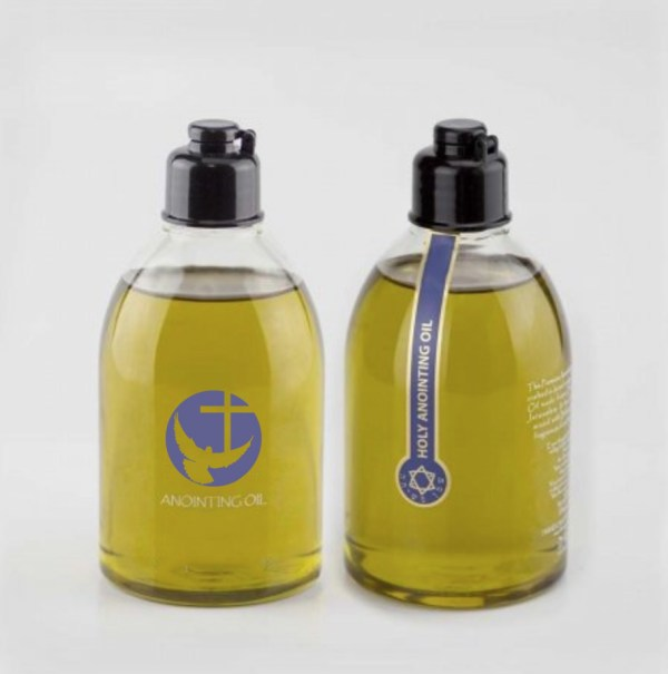 Anointing Oil in Holy Clear Plastic Bottle
