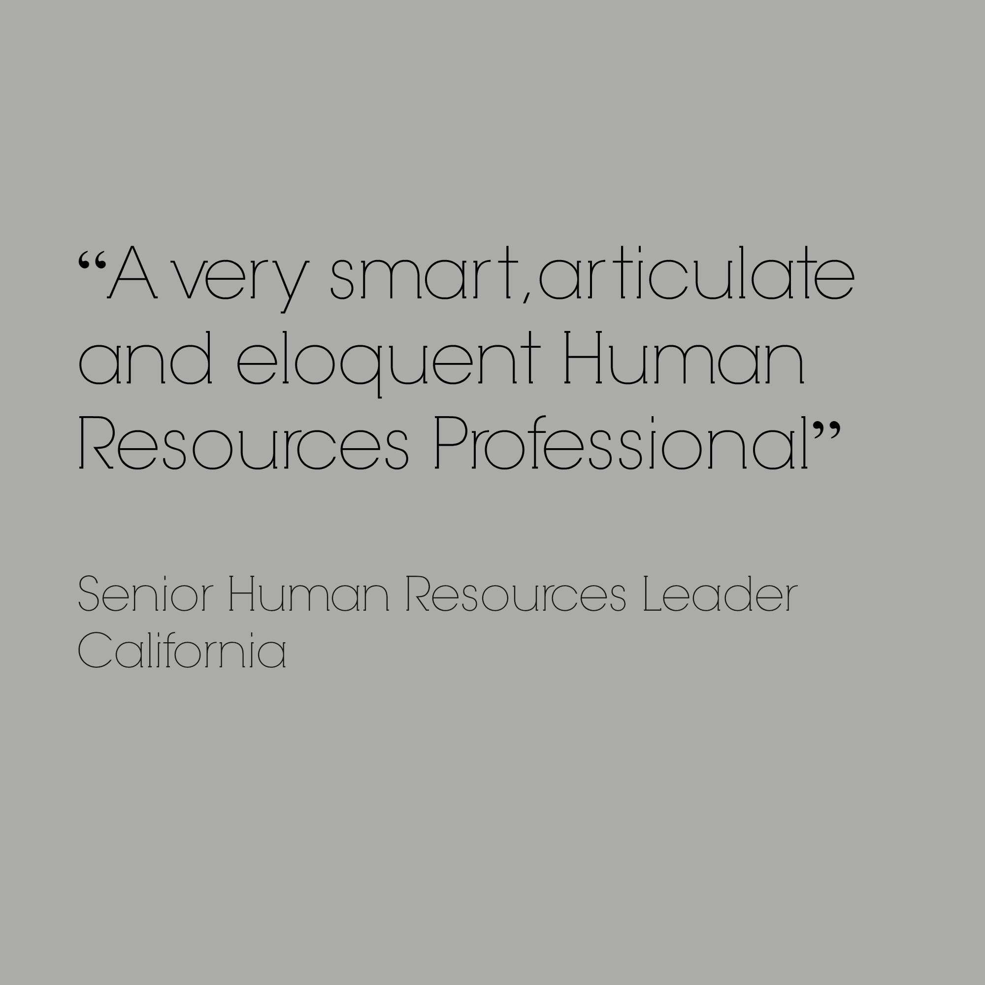 smart articulate HR professional recruiter employer branding