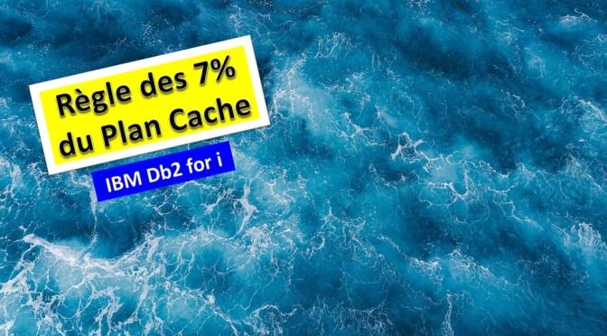 Performances Db2 for i – La règle des 7% du Plan Cache
