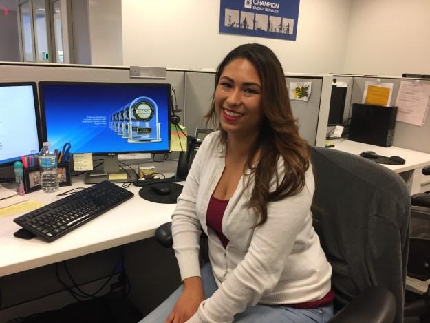 Customer Care agent Mayra Majano at Champion Energy